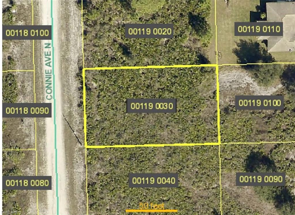Lot is 00119 0030.  This picture is from the Lee County Tax Collector website.