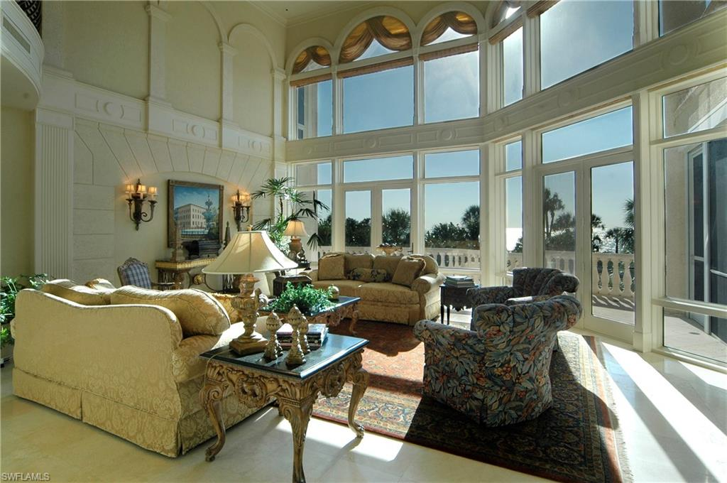 Living Room with Gorgeous Gulf Views